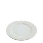 "Challenger 7.25"" Rolled Edge White Alpine Plate"