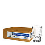 House Pack Fluted Whiskey Shot Glass, 1.5 Oz with 3/4 Oz Line