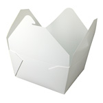 Fold-Pak Biopak #7 Take Out Carton, White