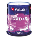 Verbatim 100 x DVD+R - 4.7 GB 16X - Spindle - Storage Media