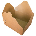 Fold-Pak BioEarth #8 Take Out Carton, Kraft