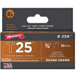 Arrow Fastener T25 Type Staples, 3/8""