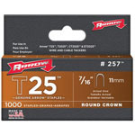 Arrow Fastener T25 Type Staples, 7/16""
