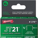 Arrow Fastener JT21 Type Staples, 3/8""