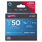 "Arrow Fastener 50516 T50 5/16"" STAPLES1250/PK .050 WIRE"