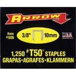 "Arrow Fastener 50038 T50 3/8"" Staples1 250/pk .050"
