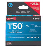 Arrow Fastener T50 Type Staples, 1/2""