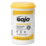 Gojo Lemon Pumice Hand Cleaner, Lemon Scent, 4.5 lb Tub