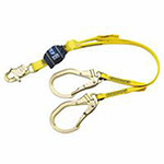 DBI/Sala EZ Stop Shock Absorbing Lanyard, 4 ft, Snap Hook Connection, 310 lb Cap., 2 Legs