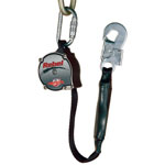 Protecta Rebel Self-Retracting Lifeline, 2 1/2 in, Carabiner, Snap Hook, 1 Leg