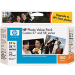 HP 57/58 Series 100-Sheet Photo Value Pack Print Cartrid/ Paper Kit