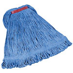 "Rubbermaid 1"" Headband Large Blue Looped Mop"
