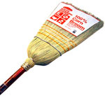 Rubbermaid 6384 Warehouse Corn Broom w/Stained/Lacquered Handle