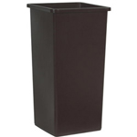 Rubbermaid 23 Gallon Brown Untouchable® Square Container