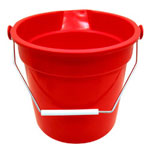 Continental 14 Quart Huskee Bucket, Red