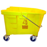 Continental Oval Mop Bucket, International Caution Symbol, Yellow