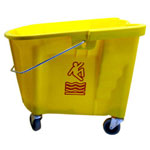 Continental 35 Quart Splash Guard™ Mop Bucket, Yellow