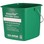San Jamar 8 Quart Kleen-Pail Kleen Color Sanitizing Bucket, Green
