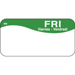 "Daymark MoveMark Day of the Week Food Safety Labels, 1""x2"",Friday, Green"