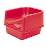 Cambro Single Booster Seat without Strap, Hot Red
