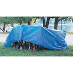 Tarps Multiple Use Tarpaulin, Polyethylene, 6 ft x 8 ft, Blue