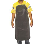 "Anchor 24"" x 36"" Black Hycar Apron w/Cloth Backing"