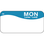"Daymark MoveMark Day of the Week Food Safety Labels, 1""x2"",Monday, Blue"