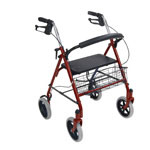 Drive Medical Four Wheel Rollators, Red