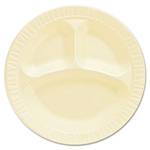 "Dart Container 3 Compartment Foam Plate, 10 1/4"", Honey"