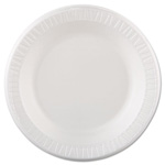 Dart Container 10PWQ White Laminated Foam Plates, 10 1/4""