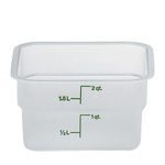 Cambro Translucent Square Container, 2 Quart