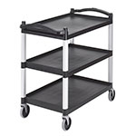 Cambro Black Knock Down Bus Cart with Casters
