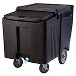 Cambro Ice Caddy with Sliding Door Black 125 lb