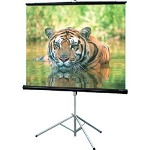 Draper Consul AV Format w/Keystone Eliminator - Projection Screen w/Tripod - 1:1 - Fiberglass Matt White