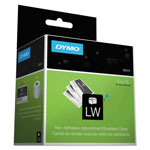 Dymo LabelWriter Business/Appointment Cards, 2 x 3 1/2, White, 300 Labels/Roll