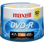 Maxell DVD-R X 50 - 4.7 GB - Storage Media
