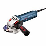 Bosch Group Corded Small Angle Grinders, 4 1/2 in Dia, 8.5 A, 11,500 rpm, Slide Switch