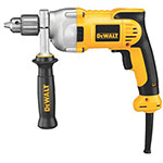 Dewalt Tools 1/2 in Heavy-Duty Drill, Metal, Single Sleeve Ratcheting Chuck, 1,200 rpm