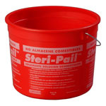 Carlisle Foodservice Products 5 Quart Round Sanitizing Pail, Red