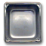 "The Vollrath Company 2 1/2"" Deep One Sixth Size Super Pan II Stainless Steel Steam Table Pans"