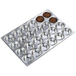 Carlisle Foodservice Products 24 Cup Aluminum Muffin Pan, 3 Ounce