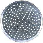 "American Metalcraft 12"" Perforated Uncoated Aluminum Pizza Pan"