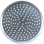 "American Metalcraft 16"" Perforated Uncoated Aluminum Pizza Pan"