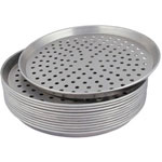 "American Metalcraft Tapered Perforated Pan, 14"" x 1"""