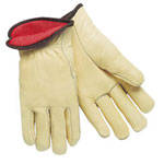 Memphis Glove Premium Grade Leather Insulated Driver Gloves, Cream, X-Large, 12 Pairs