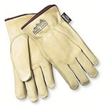 Memphis Glove Large Pig Lined Grain Leather Glove Fleece Line