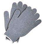 Memphis Glove Heavy Weight String Knit Gloves, Small, Knit-Wrist, Gray