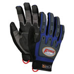 Memphis Glove Forceflex Dry Grip Tpr Protection- Hook/Loop L