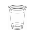 Dart Container Dart 12CS Clear 12 Ounce Squat Plastic Cup