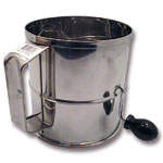 Johnson-Rose 8 Cup Stainless Steel Flour Sifter